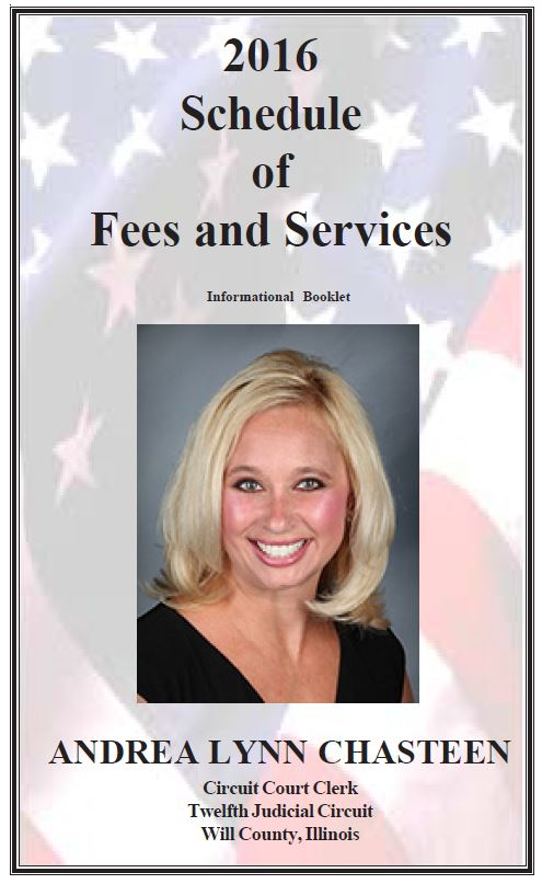 2016 Schedule of Fees and Service